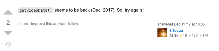 Comment on StackOverflow saying that the function still works in 2017